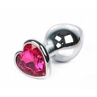 904кш) а/ Плаг металл, с камешком сердце