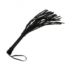 695ш) ПЛЕТЬ L рукояти 160 мм L хвоста 325 мм, цвет чёрный, PVC