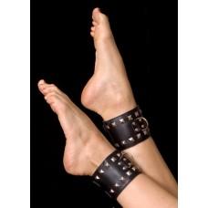 673кш) ОКОВЫ на ноги цвет красный, (PVC, текстиль)