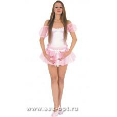 565к563ш) Платье балерины, розовое
