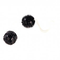 258ш) Вагинальные шарики-ежики черные