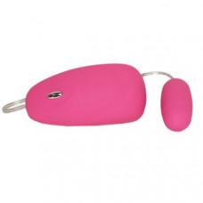 15кш) Виброяйцо, розовое, 7 режимов-виброимпульсов, АБС пластик