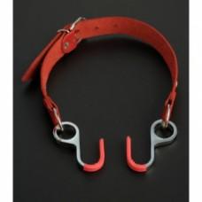 654ш)  Кляп с крючками расширяющий-красный