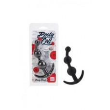 987ш) Анальная цепочка для ношения Booty Call силиконовая черная, розовая