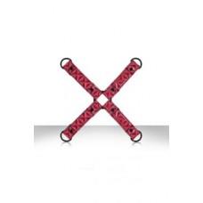 656ш)  Фиксация крестообразная Sinful Hogtie розовая
