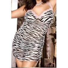 526ш) Платье зебра