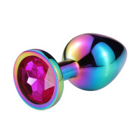 """Анальная пробка """"Vandersex"""" металл, розовый кристалл S, Hamelion"""